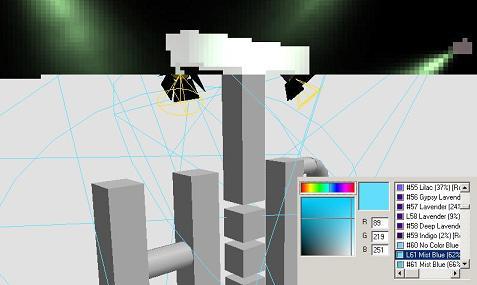 Das Bild zeigt den begonnenen Prozesse die Zeichnung zu rändern.