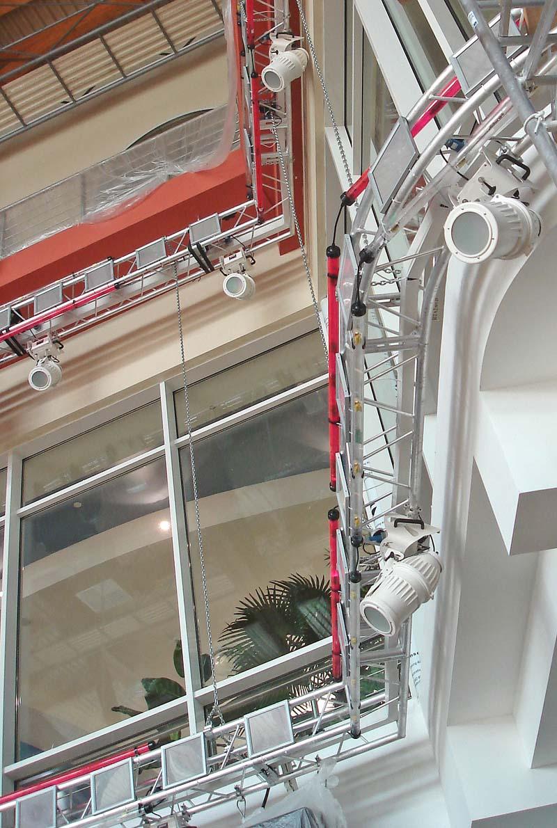 Weiss lakierte Wassergeschützte PAR-Scheinwerfer