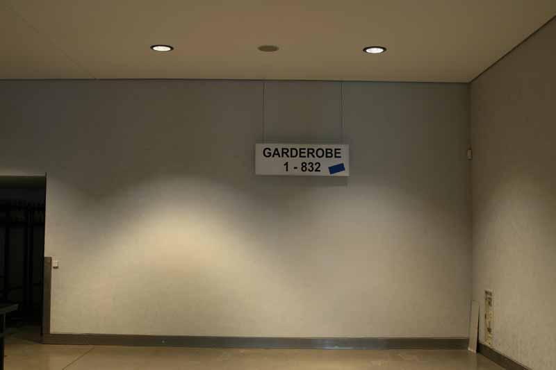 Lichtwurf in einem Foyer