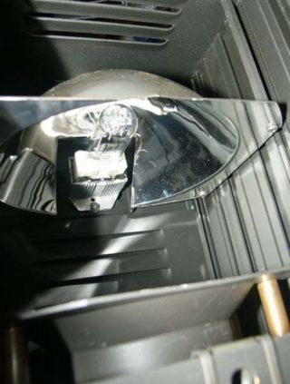 Profilscheinwerfer Blick aufs Leuchtmittel
