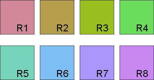 Referenzfarben 1 bis 8