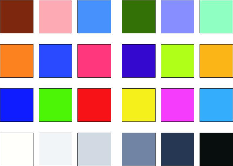 24 Referenzfarben