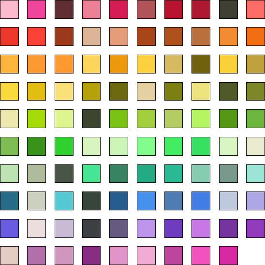 99 Farben für TM-30