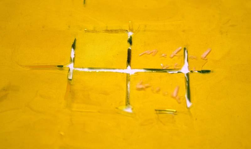 Folie zeigt deutliches verschmolzenes Raster in der Strucktur des Schutzgitters
