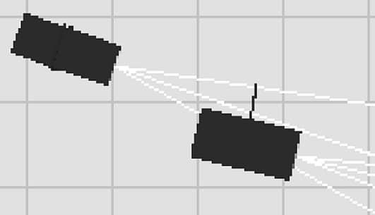 Vergrößerung zeigt das Raster aus dem die Zeichnung zusammengesetzt ist