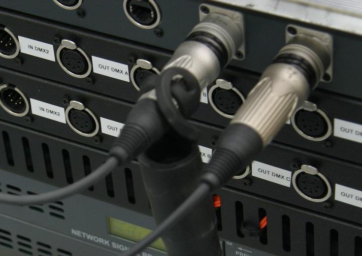 Lichtleiter im Steckverbinder am Patchfeld