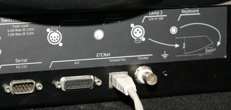 Anschlussterminal Lichtstellpult