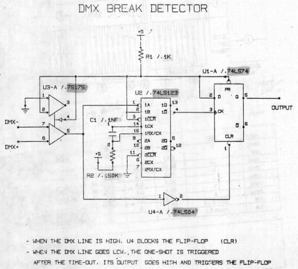 DMX Break Detector