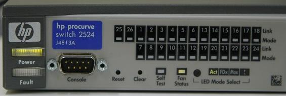Switch Ausschnitt mit den Status LEDs