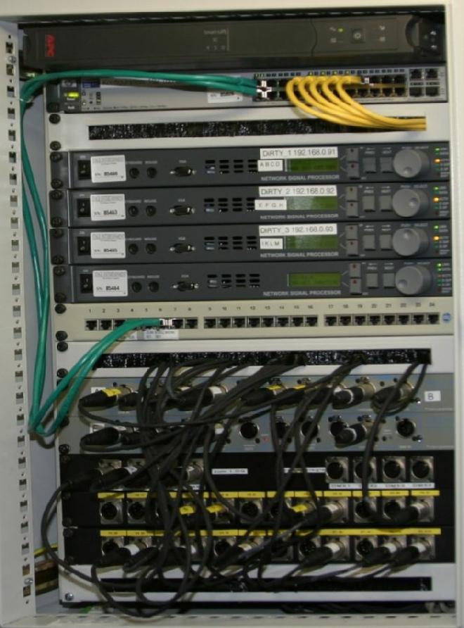 """19"""" Schrank mit Netzwerkkomponenten"""