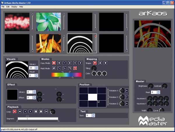 Medienserver ArKaos-screenshot