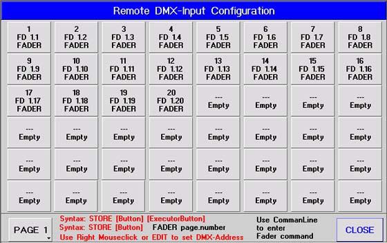 Screenshot DMX Zuordnung