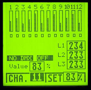 Dimmer Display 12 Kanal