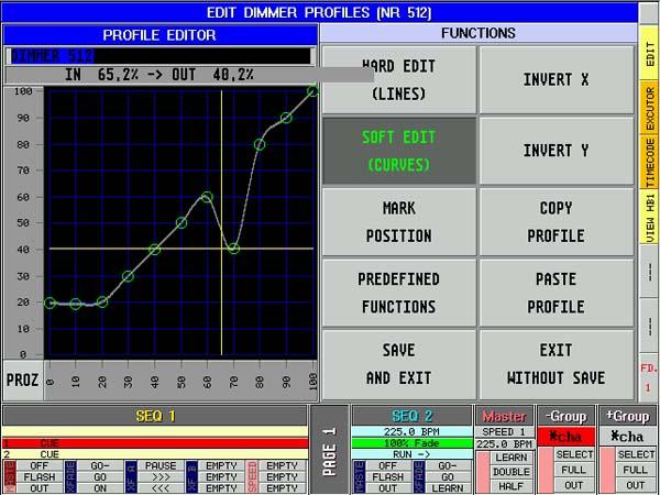 Screenshot Dimmerkurve