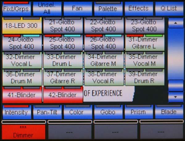 Pilot 3000 Screen Anwahl