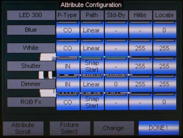 Screenshot Attribute Configuration