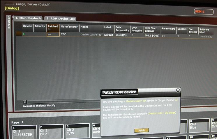 Screenshot RDM Tabelle