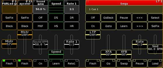 Screenshot virtuelle Faderbank
