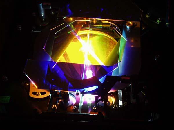 Blick auf Filter und Leuchtmittel