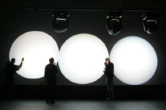 Vier Lichtkreise im Vergleich