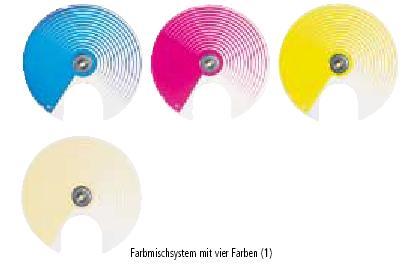 Vier Farbräder