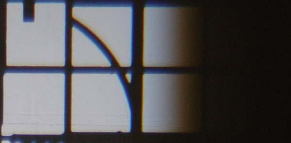 Abbildung Gobo scharf nicht Blendenschieber