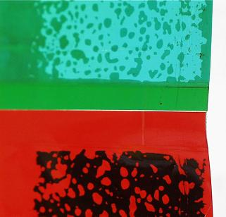 Verklebte Farbfolien