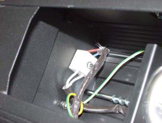 Scheinwerfer Strom-Klemme