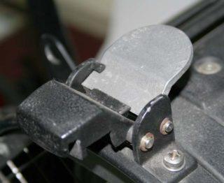 Filterrahmenaufnahmeverriegelung
