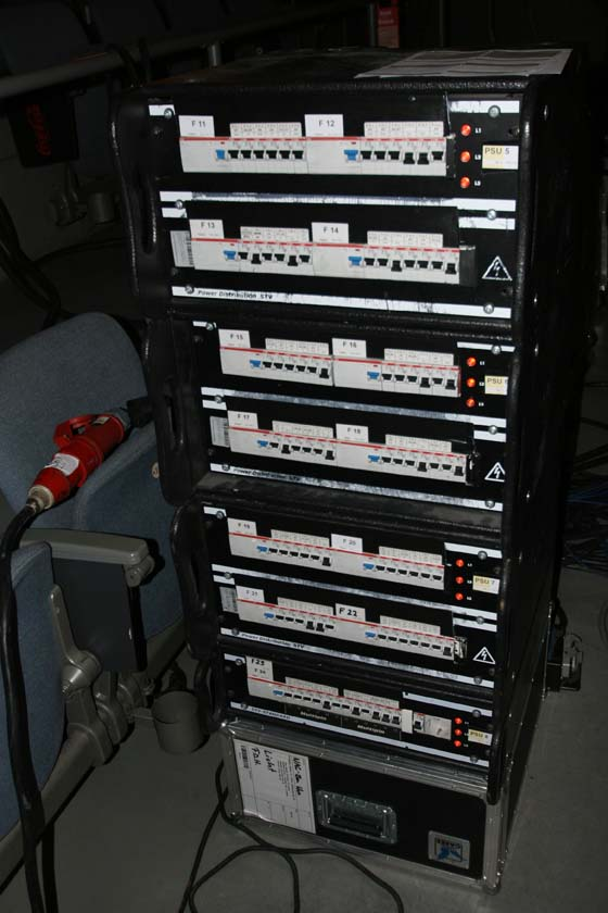 Stromverteiler im Rack
