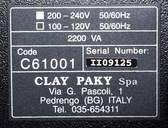Clay Paky-Z-120 Typensch
