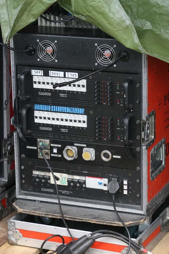 Stromverteilerrack im Outdoorbetrieb