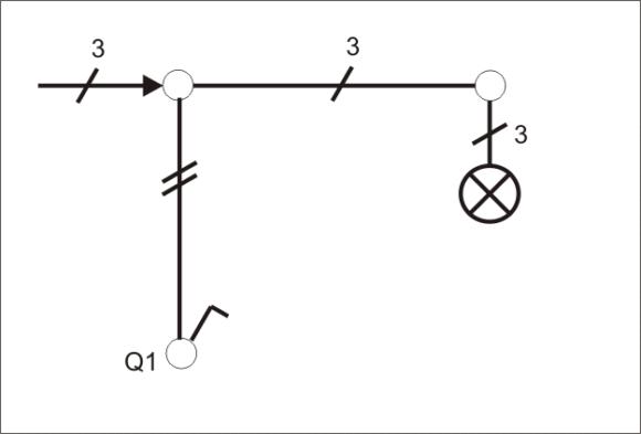Schaltung Schalter mit Steckdose